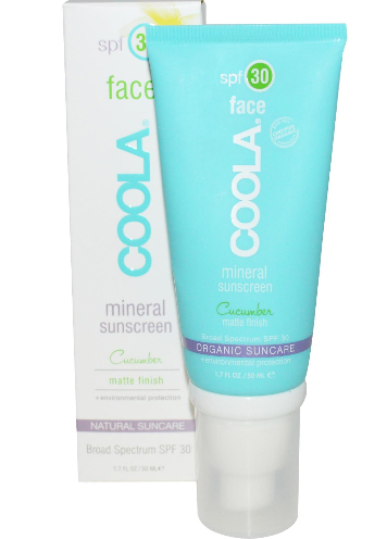 COOLA Organic Suncare Collection, Face, Mineral Sunscreen, SPF 30, Matte Finish, Cucumber